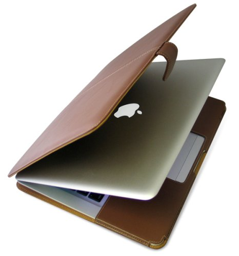 PDAIR レザーケース for MacBook Air 横開きタイプ ブラウン PALCMBAB/BR