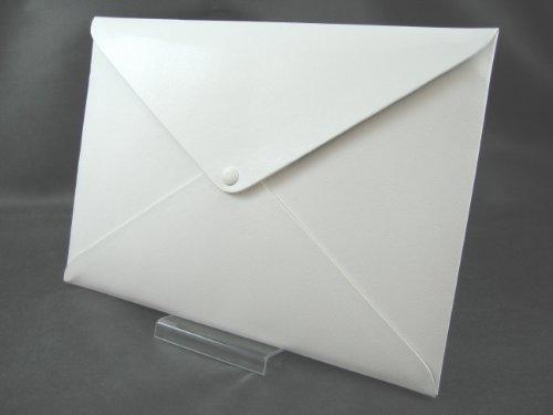 QUADRI d'elite イタリア製PU A4 ドキュメントフォルダ ( MacBook Air 11インチ サイズ 対応 衝撃吸収 ポーチ 付属 ) ホワイト