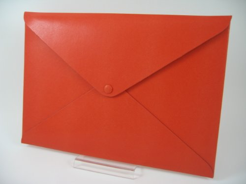 QUADRI d'elite イタリア製PU A4 ドキュメントフォルダ ( MacBook Air 11インチ サイズ 対応 衝撃吸収 ポーチ 付属 ) オレンジ
