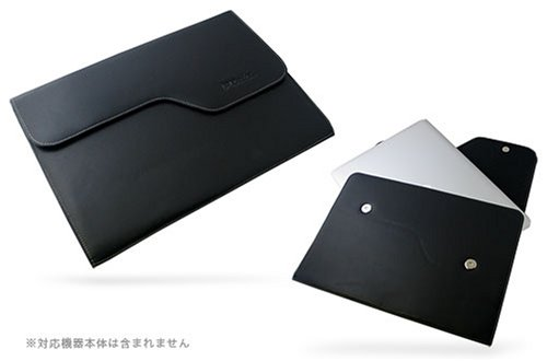 PDAIR レザーケース for MacBook Air ポーチタイプ(ブラック) PALCMBAP/BL